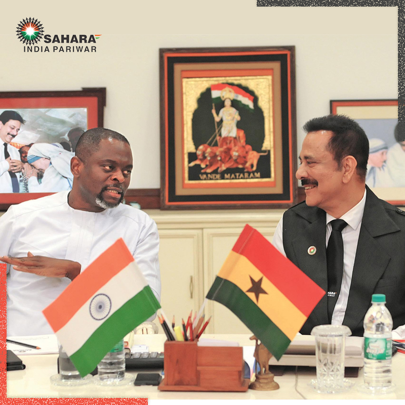 Subrata Roy Sahara With Royal Prince of Ghana